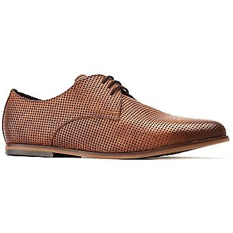 Basis Londen Mens Senna Reliëf Lace Up Schoen Tan