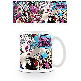 Batman Harley Quinn Neon bögre