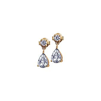 Jacques Lemans - Studs sterling silver plated with White Topaz - SE-O109E