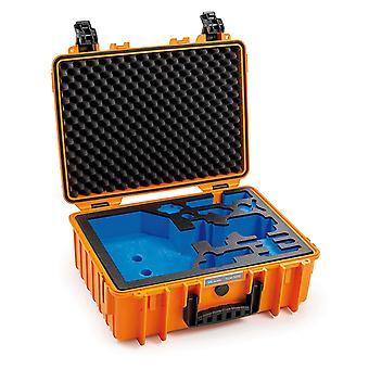 B&W Caja Gimbal Tipo 5000 para DJI Ronin SC, Naranja Con inserto de espuma