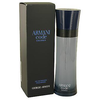 Armani Code Colonia by Giorgio Armani 127 ml Eau De Toilette Spray