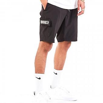 Hoodrich OG Cargo Woven Logo Jog Shorts Black