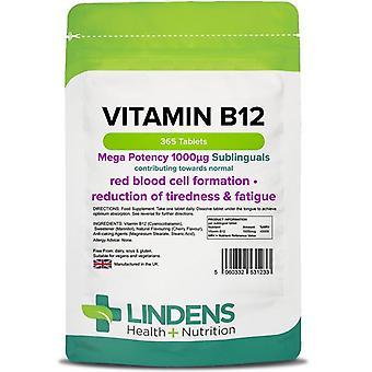 Lindens B12-vitamiini 1000mcg sublingual tabs 365 (1233)