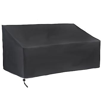 Garden furniture cover, outdoor furniture dustproof and waterproof protective cover, black garden bench protection pad and cover