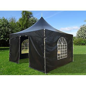 Tente de réception PartyZone 4x4m, PVC, Noir