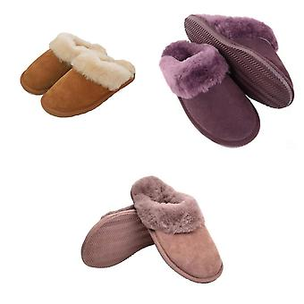 Eastern Counties Leather Womens/Ladies Sheepskin Lined Mule Slippers