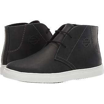 Harley-Davidson Mens Kingman Leather Hight Top Lace Up Fashion Sneakers