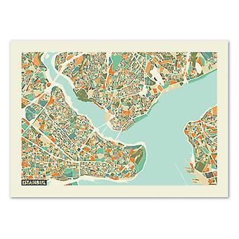 Art-Poster - Mappa di Istanbul Rainbow - Muzungu 50 x 70 cm