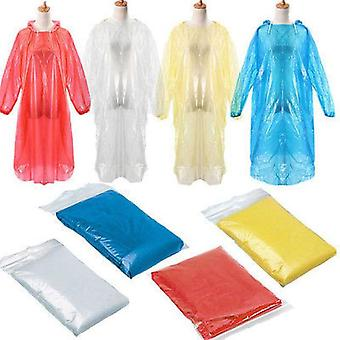 Disposable Raincoat Adult Emergency Waterproof -Travel Hiking Camping Rain Coat Unisex Rainwear