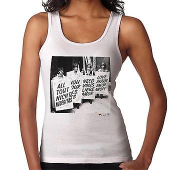 Beatles vše co potřebujete je lásky opatství silniční studia 1967 bílé ženy ' s vest