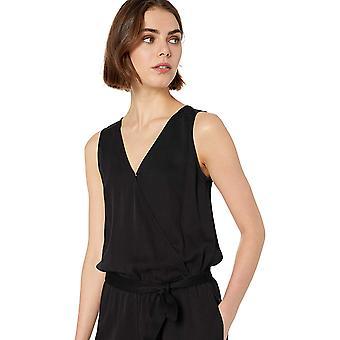 العلامة التجارية - طقوس اليومية المرأة & apos;ق تينسيل بلا أكمام التفاف jumpsuit, أسود, 16