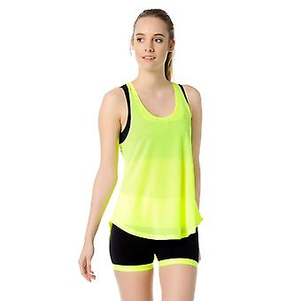 Jerf Womens Jaco Yellow Active Top