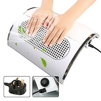 3 Fan 40W Nail Art Vacuum Suction Dust Collector Machine Manicure Tool - White