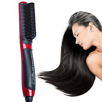 Electric Hair Straightener Steam Hot Comb - Styler Brush Hair Styling Tools/men
