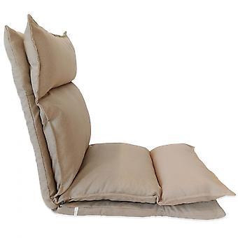 Rebecca Mobili Seduta Poltrona Meditazione Beige Metallo Poliestere 70x56x70