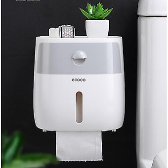 Wall Mounted Bathroom Toilet Waterproof Tissue Box With Drawer - Plastic