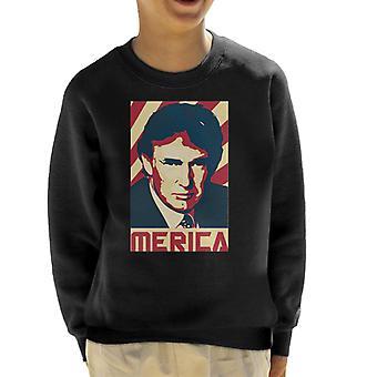 Donald Trump Merica Retro Propaganda Kid's Sweatshirt