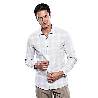 Camicia beige a quadri Slim fit