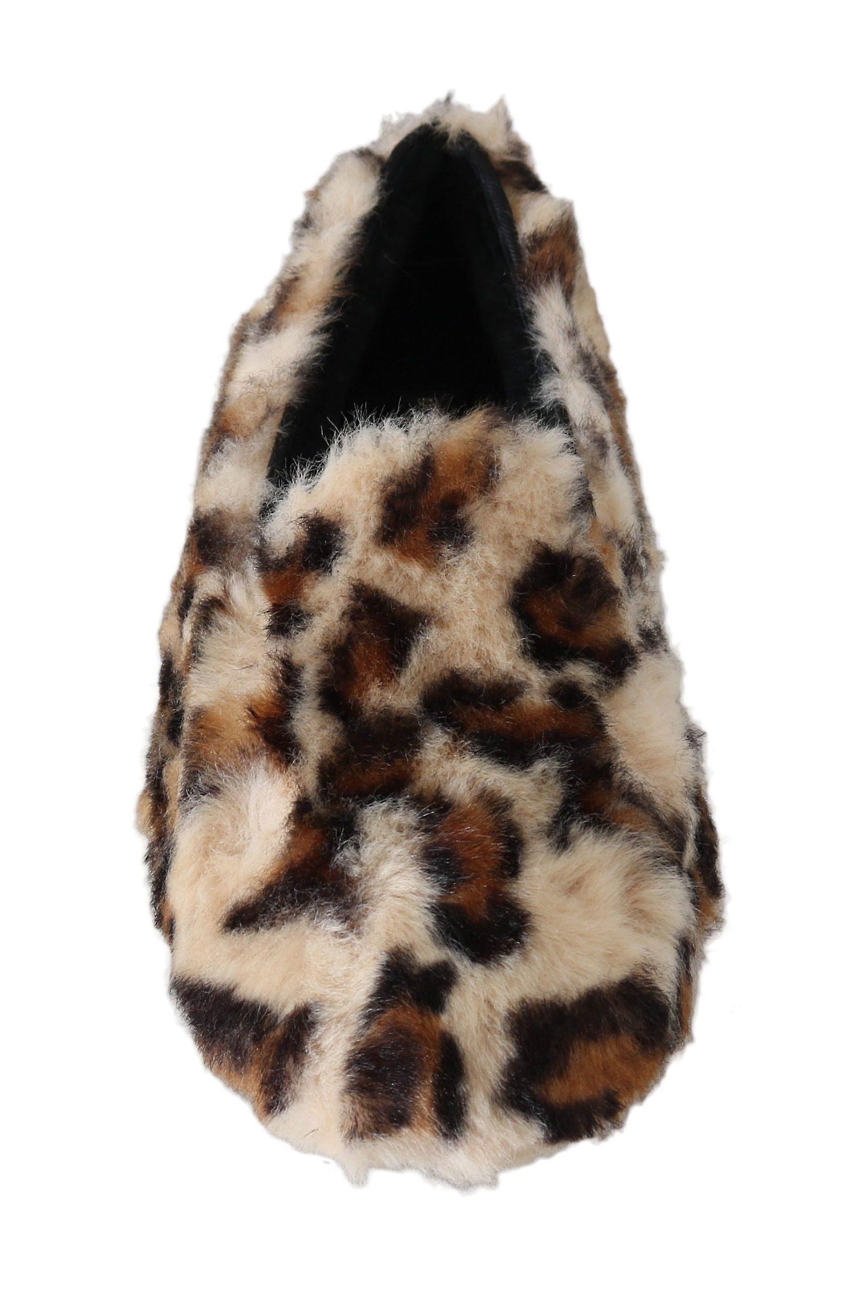 Dolce & Gabbana Brown Leopard Shearling Slippers Flats Shoes -- MV20765872