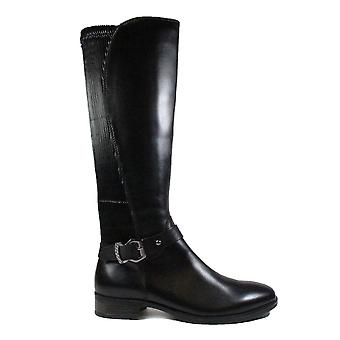 Caprice 25509 Black Leather Womens Long Leg Boots