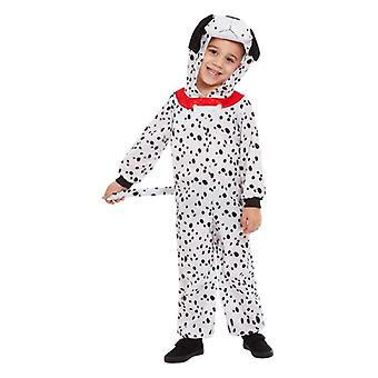Traje de vestir de fantasía dálmata para niños pequeños