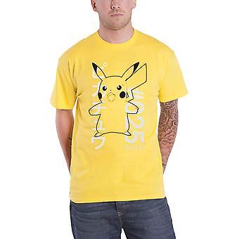 Pokemon T-paita Järkyttynyt Pika # 025 Logo uusi virallinen Miesten Keltainen