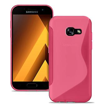 S-Line Case for Samsung Galaxy A5 (2017) Ultra Thin Common Colors Rubber Pink