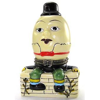 Humpty Dumpty Sat on the Wall Porcelain Hinged Trinket Box