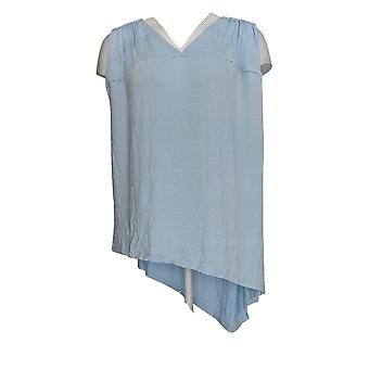 Lisa Rinna Collection Women's Top Shirred Front Detail Tank Blue A308452