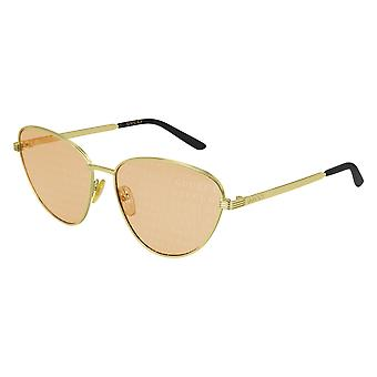 Gucci GG0803S 004 Gold/Orange Sunglasses