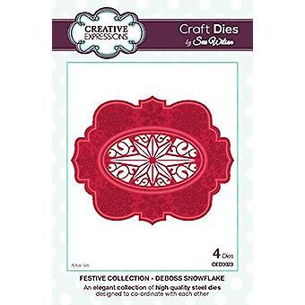 Sue Wilson Craft Dies - Festive Collection - Deboss Snowflake - CED3023