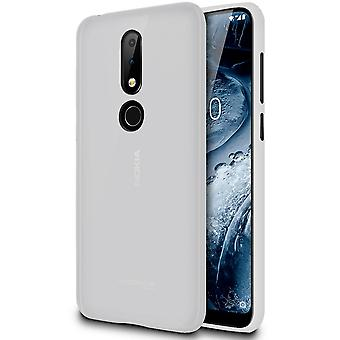 Nokia 6.1 Plus (Nokia X6) Solid Color Mobile Case Lightweight Protection Shockproof Silicone White