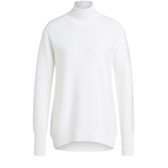 Oui Off White Fine Ribbed Jumper