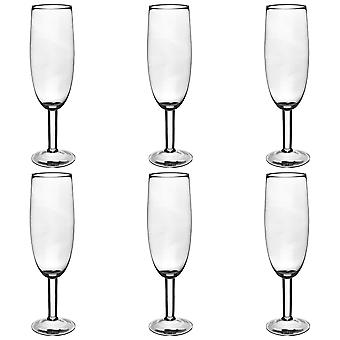 Rink Drink Giant Champagne Glass Flute - 750ml Prosecco Glass - Pack de 6