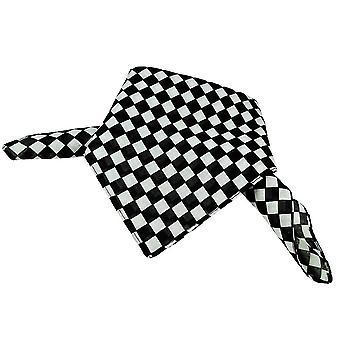 Ties Planet Black & White Checkerboard Bandana Neckerchief