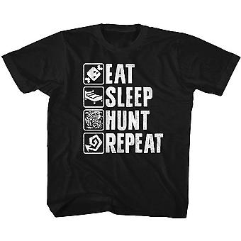 Monster Hunter Hunt Repeat Youth T-shirt