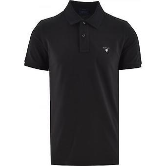 GANT أسود كلاسيكي بولو قميص