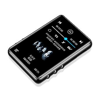 Original Metal Mp3 Player Bluetooth 5.0 Touch Screen 2.4 Inch Built-in Speaker With E-book Radio Recording Video Playback