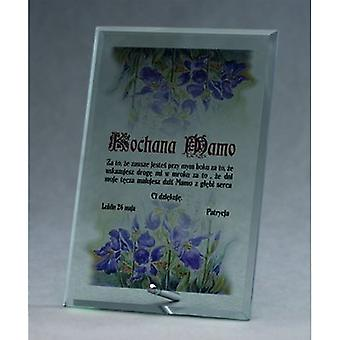Trophée en verre avec imprimé couleur Luxorjet