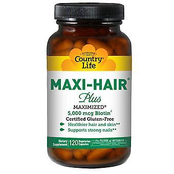 Country Life Maxi Hair Plus Biotin, 120 Veg Caps