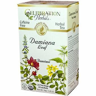 Celebration Herbals Organic Damiana Leaf Tea, 24 Bags