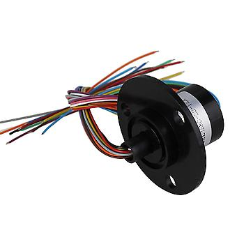 250RPM Metal Black 12 Wires Electronic Components Hat Type Conductive Slip Ring