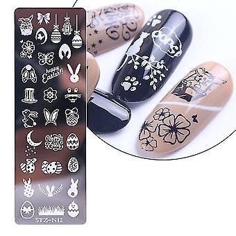 Acier flocon de neige, plaque d'estampage d'ongle Pochoir - moule de modèle d'art d'ongle