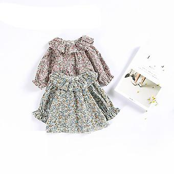 Shirt Retro Lace Collar Sweater Coat Small Floral Doll Baby Shirt Top Blouse For Kids Infant Baby