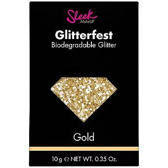 Sleek MakeUP Glitterfest - Biodegradable Glitter - Gold 10g (1211)