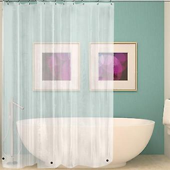 Waterproof Transparent Shower Curtain, Clear Bathroom, Luxury Bath With Hooks