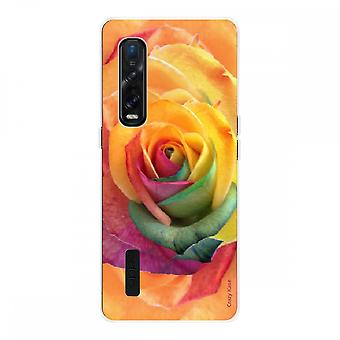 Hull For Oppo Find X2 Pro In Silicone Soft 1 Mm, Pink Flower Colorful
