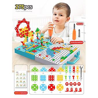 Children Drill Screw Nut Puzzles, Drill Disassembly/assembly, 3d-puzzle/