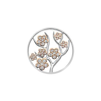 Emozioni Sterling Zilveren Plaat Fiore Rose Gold Plate 33mm Coin EC515