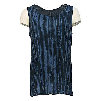 Lisa Rinna Collection Women's Top Sleeveless Knit Blue A277015